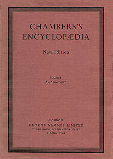 Chambers's Encyclopaedia - New edition, illustrated in part by Eric Ennion.