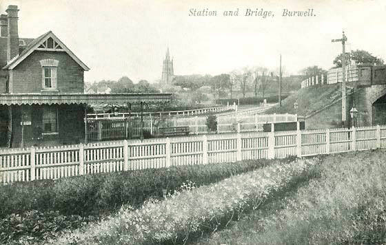 The Station and Bridge at Burwell, Cambridgeshire, c. 1900.
